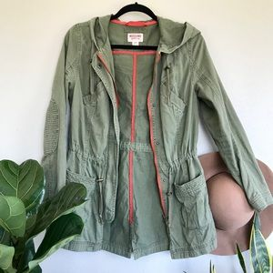 MOSSIMO Faded Army Green Hooded Jacket